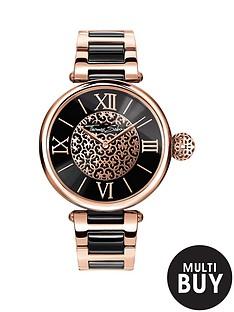 thomas-sabo-karma-black-dial-rose-detail-bracelet-ladies-watchnbspplus-free-diamond-bracelet