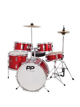 Pp 5 Piece Junior Drum Kit  Red