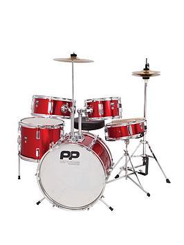 Pp 5 Piece Junior Drum Kit  Red