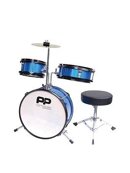 Pp Junior 3 Piece Drum Kit  Blue