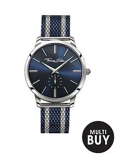thomas-sabo-rebel-spirit-blue-dial-blue-striped-mesh-bracelet-mens-watchnbspplus-free-diamond-bracelet