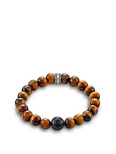 thomas-sabo-sterling-silver-obsidian-and-tigers-eye-semi-precious-stretch-bracelet
