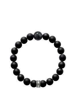 thomas-sabo-sterling-silver-obsidian-semi-precious-stretch-bracelet