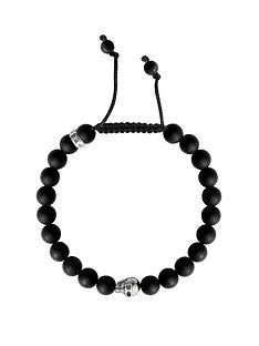 thomas-sabo-sterling-silver-skull-obsidian-bracelet