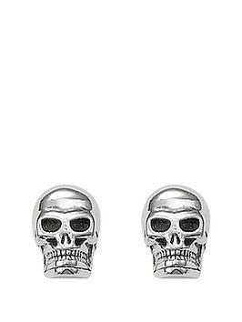 Thomas Sabo Thomas Sabo Sterling Silver Mens Skull Earrings
