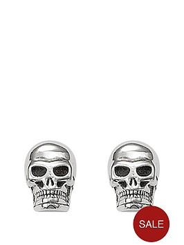 cf9ede8d1 Thomas Sabo Sterling Silver Skull Earrings | littlewoods.com