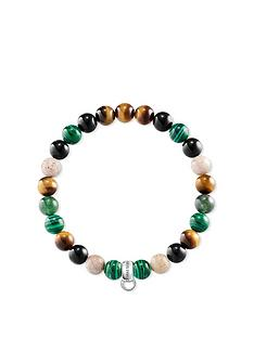 thomas-sabo-semi-precious-bead-green-mix-stretch-charm-bracelet