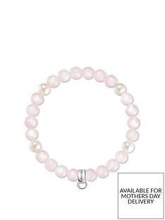 thomas-sabo-semi-precious-bead-pink-and-pearl-stretch-charm-bracelet