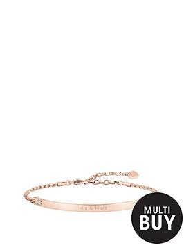 thomas-sabo-love-bridge-sterling-silver-rose-gold-plate-cubic-zirconia-heart-personalised-braceletnbspplus-free-diamond-bracelet