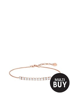 thomas-sabo-sterling-silver-rose-gold-plated-cubic-zirconia-braceletnbspplus-free-karma-bead-bracelet