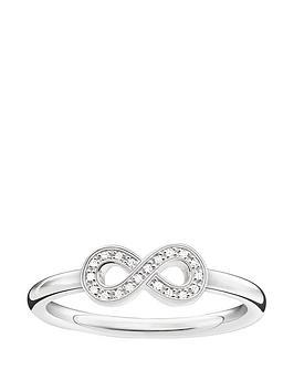Thomas Sabo Sterling Silver Diamond Set Infinity Ring