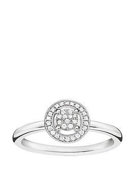 Thomas Sabo Sterling Silver Diamond Set Halo Ring