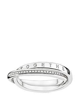 Thomas Sabo Sterling Silver Diamond Set Together Forever Ring