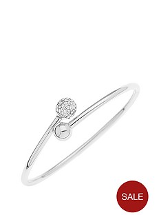 love-silver-sterling-silver-polished-and-crystal-ball-flexi-cuff