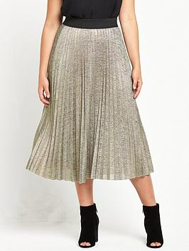so-fabulous-curve-metallic-pleated-skirt