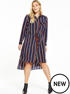 so-fabulous-longline-channel-through-striped-shirt-dress