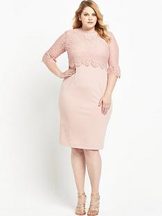so-fabulous-double-layer-lace-top-and-sleeve-midi-dress