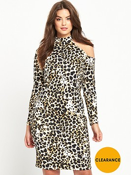 v-by-very-curve-curve-cold-shoulder-leopard-midi-dress