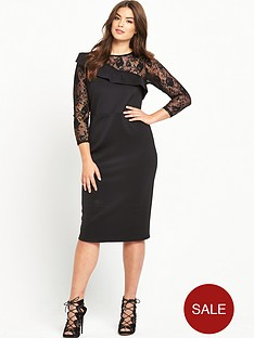 so-fabulous-curve-ruffle-detail-lace-slv-dress