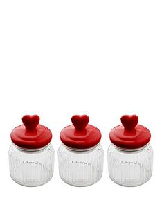 sabichi-heart-top-3-piece-glass-cannister-set