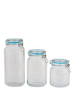 sabichi-large-clip-top-3-piece-glass-cannister-set