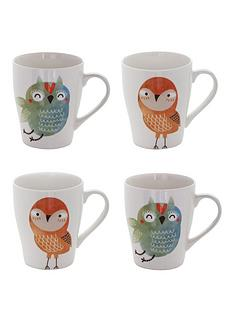 sabichi-set-of-4-mugs-ndash-hooty-owl-and-titch-bird