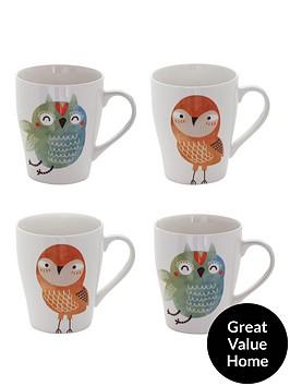 sabichi-set-of-4-mugs-ndash-hooty-owl-and-titch-bird