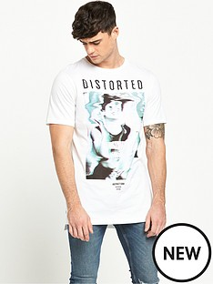 river-island-distorted-print-short-sleeve-t-shirt