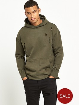 river-island-distressed-hooded-top