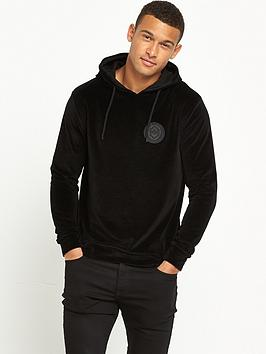 river-island-velour-hooded-top