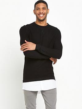 river-island-shirt-layered-knitted-jumper