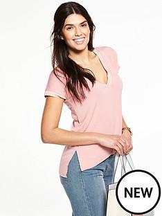 v-by-very-woven-back-rib-trim-t-shirt