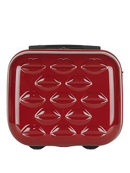 Lulu Guinness Hard Sided Vanity Case  Red
