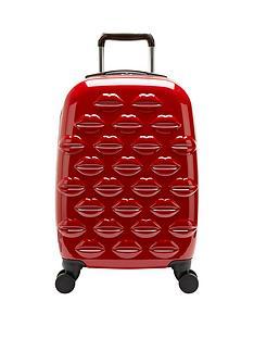 lulu-guinness-hard-sided-4-wheel-cabin-case-red