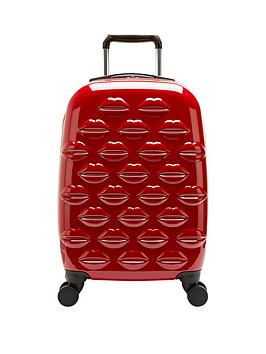 lulu-guinness-hard-sided-4-wheel-cabin-case-red