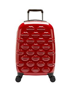 lulu-guinness-lips-4-wheel-spinner-cabin-case