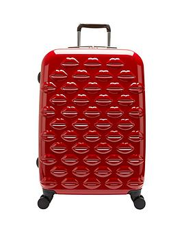 Lulu Guinness Hard Sided 4Wheel Medium Case  Red