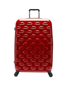 lulu-guinness-hard-sided-4-wheel-large-case-red
