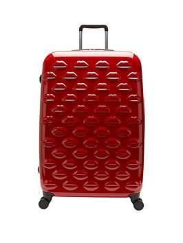 Lulu Guinness Hard Sided 4Wheel Large Case  Red