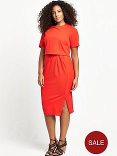 so-fabulous-curve-wrap-detail-double-layer-dress