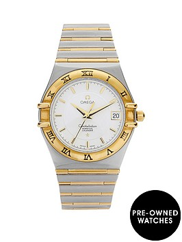 omega-omega-preowned-bimetal-constellation-perpetual-calendar-reference-12523000-ladies-watch-including-pa