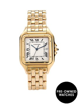cartier-cartier-preowned-18k-yellow-gold-panthere-off-white-dial-black-roman-numerals-reference-w25014b9-men