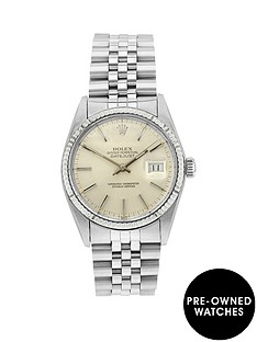 rolex-rolex-pre-owned-steel-datejust-silver-baton-dial-reference-16014-mens-watch