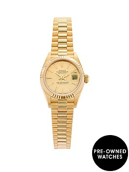 rolex-rolex-preowned-18k-datejust-champagne-dial-reference-69178-ladies-watch