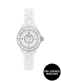 chanel-chanel-preowned-j12-white-ceramic-original-mother-of-pearl-diamond-dial-reference-j12-h1628-ladies-w