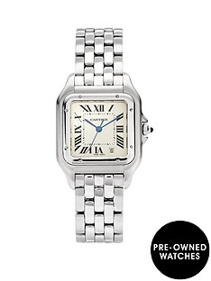 cartier-cartier-preowned-steel-panthere-off-white-dial-black-roman-numerals-reference-1310-mens-watch