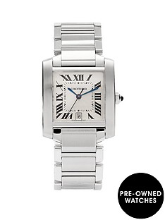 cartier-cartier-preowned-steel-tank-francaise-automatic-off-white-guilloche-dial-black-roman-numerals-refere