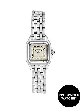 cartier-cartier-preowned-steel-panthere-off-white-dial-black-roman-numerals-reference-1320-ladies-watch