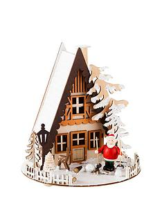 gisela-graham-wood-led-santa-cabin-ornament