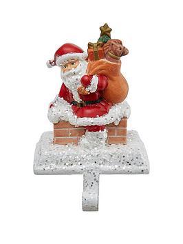gisela-graham-santa-on-chimney-christmas-stocking-hanger